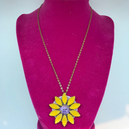 Elisabetta Ricciardi Yellow Flower Necklace