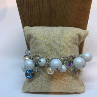 Georgianni blue pearl and crystal bracelet
