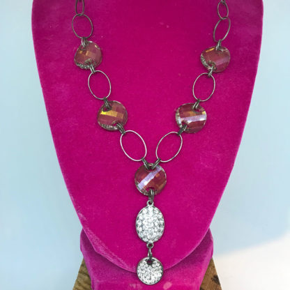 Georgianni drop topaz and crystal necklace