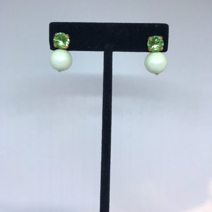 Georgianni green stud earrings