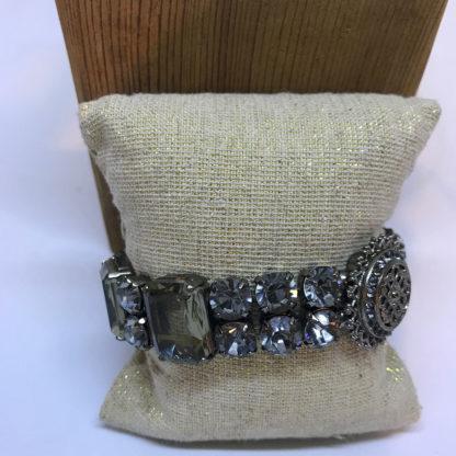 LK Smoky Crystal Stretch Bracelet
