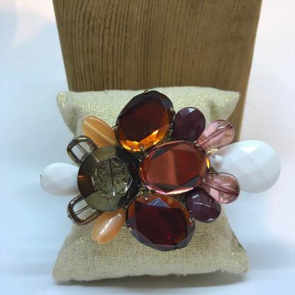 Large crystal flower bracelet
