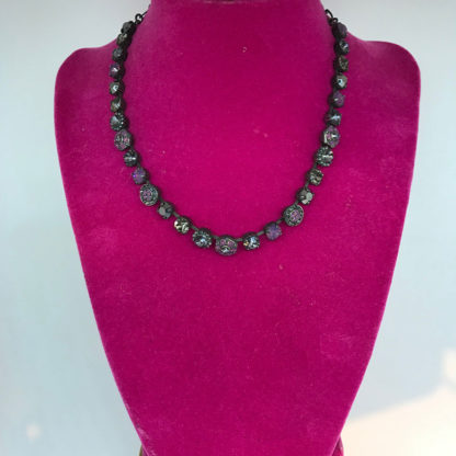 Mariana Black and Purple Crystal Necklace