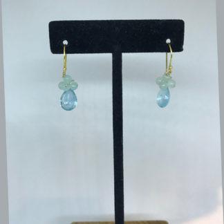 Mariana Clear Blue Crystal Dangle Earrings