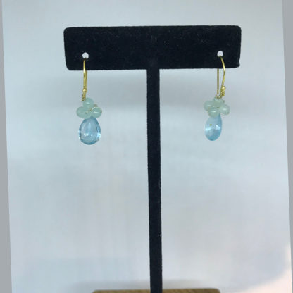 Mariana Clear Blue Crystal Dangle Earrings