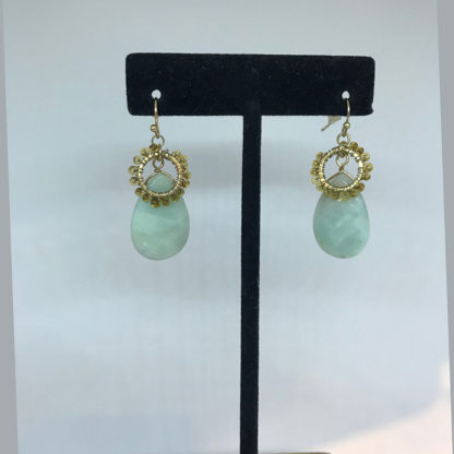 Mariana gold and blue stone earrings