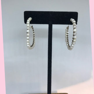 Mariana Pearl Hoop Earrings