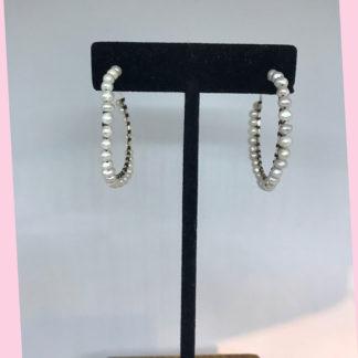Mariana Pearl Hoop Earrings