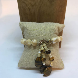 Nino Tiger Eye and Crystal Bracelet