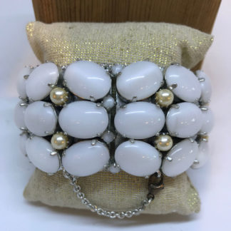 Rodrigo Otazu White Stone & Pearl Bracelet