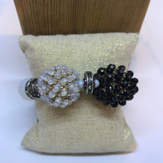 Black and White Crystal Stretch Bracelet