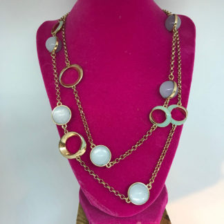 Ball and Circles Layer Necklace