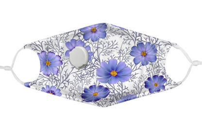designer cloth face mask lilac